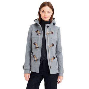 J.Crew Classic Duffle Coat Melton Wool Toggle Hood